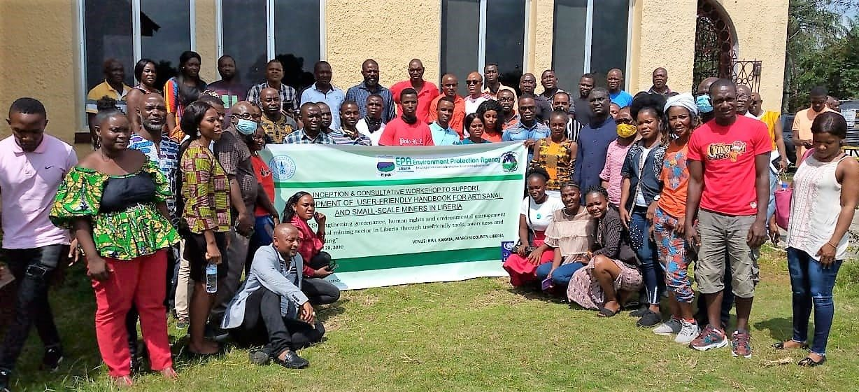 EPA, Ministry of Mines and Energy hold Training on the development of user friendly handbook for artisanal and small scale miners in Liberia.