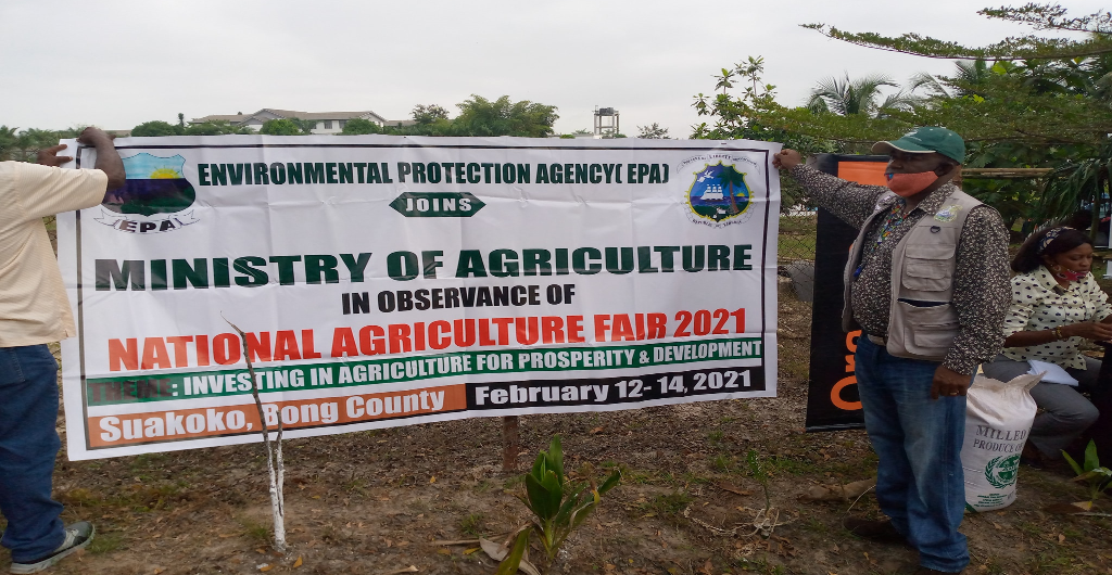 EPA Joins the MOA in observance of National Agriculture Fair 2021 in Suakoko, Bong County.