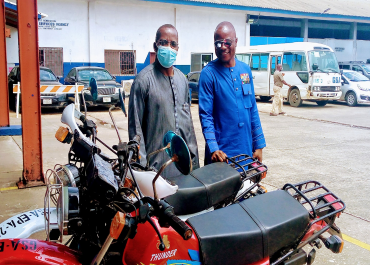 EPA Donates two Thunder 2019 TH-125 GY motorbikes to the General Service Agency (GSA)
